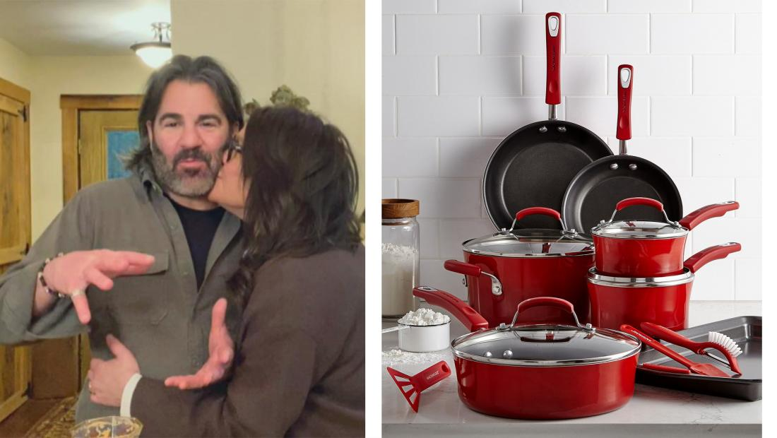 rachael red cookware for valentines day