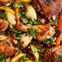 moroccan sheet pan chicken