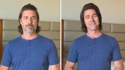 Kyan Douglas before and after beard and hair grooming routine
