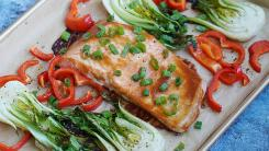 Sheet Pan Dinner: Teriyaki Salmon & Baby Bok Choy