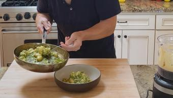 cottage cheese gnocchi with pesto