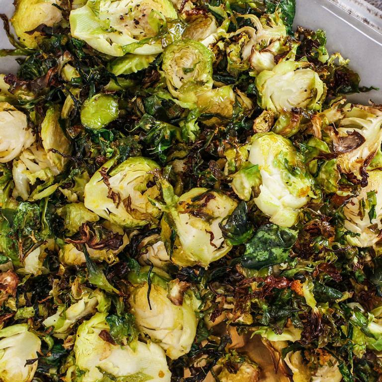 Orange Shaved & Roasted Brussels Sprouts