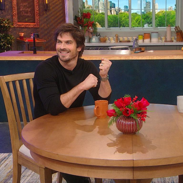 Ian Somerhalder and Rachael Ray