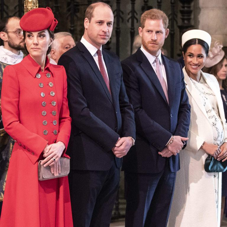 The Duke and Duchess of Sussex and the Duke and Duchess of Cambridge at Westminster Abbey on Commonwealth Day