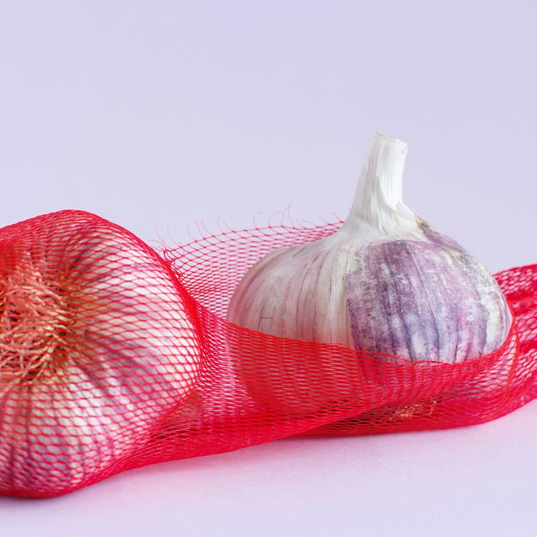 garlic in bag