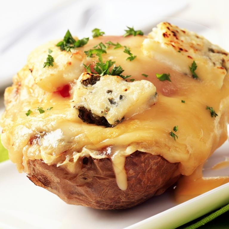 Scallops Newburg-Stuffed Potatoes