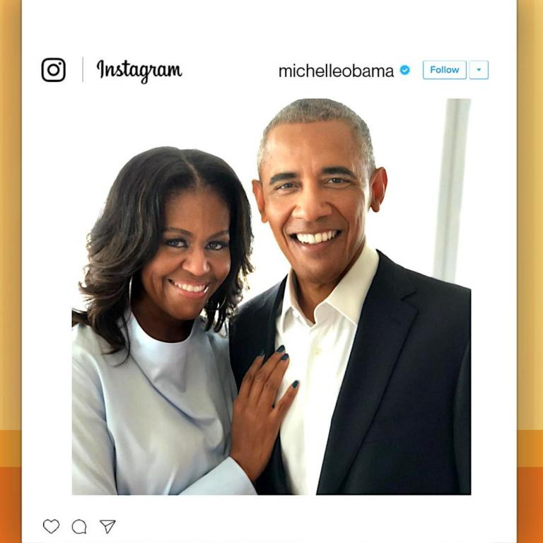Michelle Obama and Barack Obama