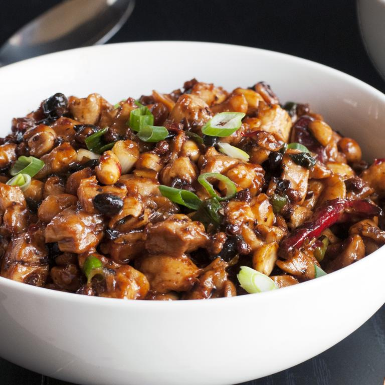 Chicken Stir Fry with Black Beans, Chiles & Peanuts