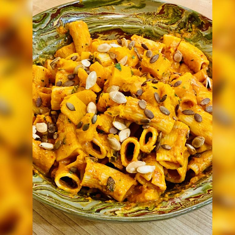 Pumpkin and 'Nduja Rigatoni