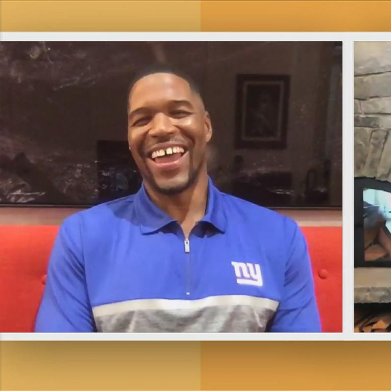 Rachael and Michael Strahan
