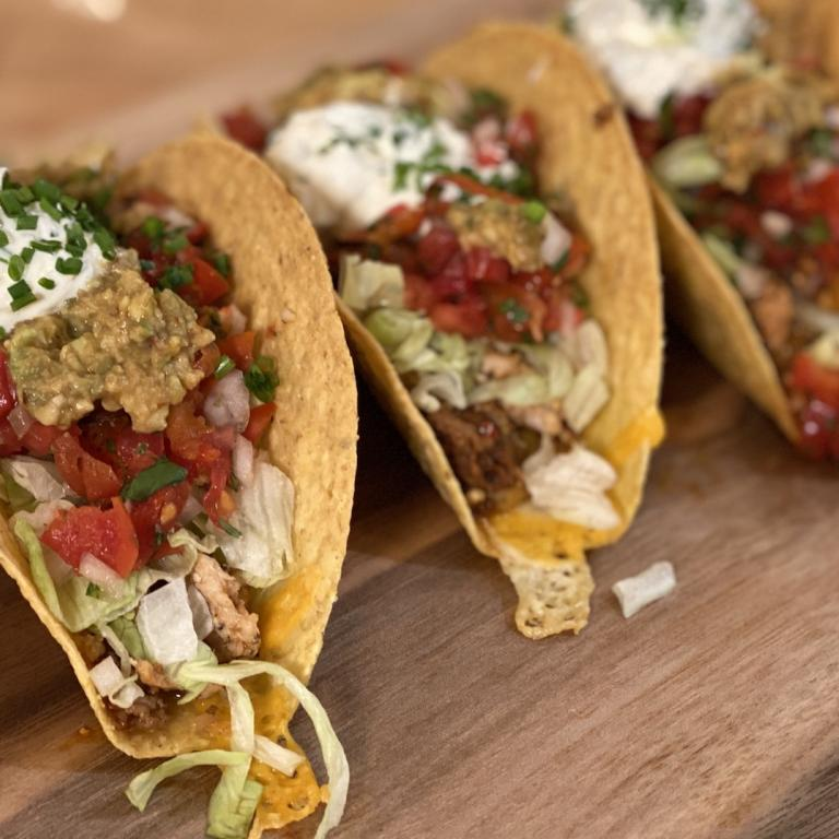 Rachael Ray's Chicken and Chorizo Hard Shell Tacos
