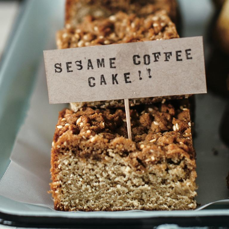 sesame coffee cake