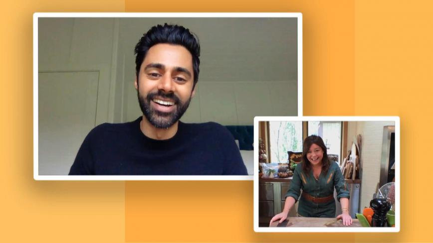 Rachael Ray and Hasan Minhaj