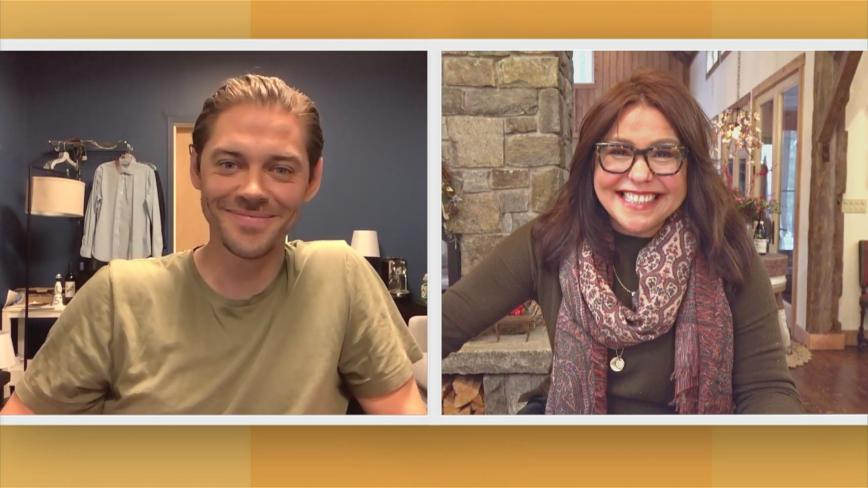 Tom Payne and Rachael Ray