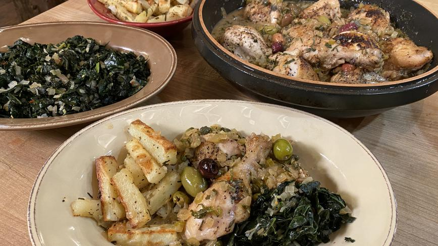 Chicken Cacciatore With White Wine Sauce by Rachael Ray