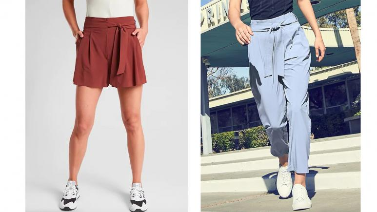 athleta shorts and pants