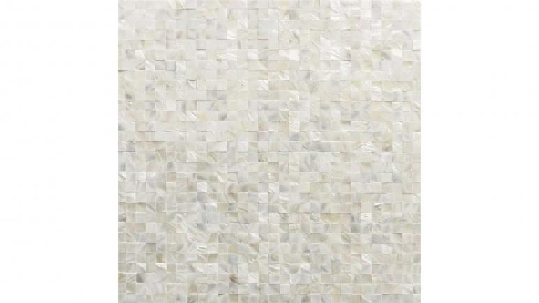Luxe Core Square White 11.81 in. x 11.81 in. Mother of Pearl Peel and Stick Tile