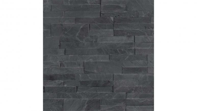 Midnight Ash Veneer Peel and Stick 6 in. x 22 in. Honed Slate Wall Tile