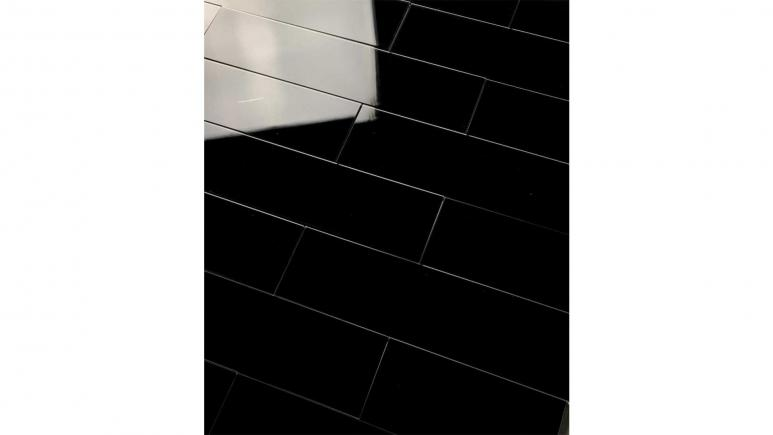 Reflections Black Diamond 3 in. x 12 in. Straight Edge Peel & Stick Glass Mirror Décor Subway Tile (11 Sq.Ft/Case)