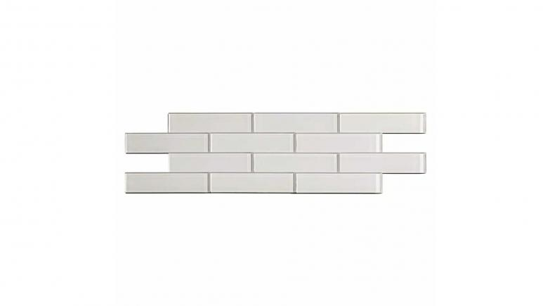 Subway Matted 12 in. x 4 in. Frost Glass Decorative Tile Backsplash (3-Pack)
